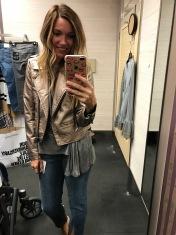 Blank NYC metallic, Treasure and Bond Tee, FRAME jeans